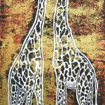 Nose to Nose- Giraffe