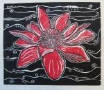 Divine Red Lotus Print