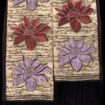 Divine Lotus Red Bloom Scarf