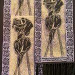Three lilies scarf