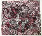 Spiral Lion Dragon Print