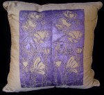 Tulips and Poppies Grey Pillow