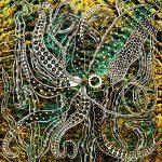 Squid in Emerald Sea Kelp Print